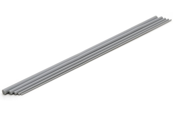 Plastic Round Bar (Gray) (250mm x 3.0mm 6pcs)