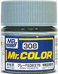 Mr Color 308 Gray FS36375 (Semi-Gloss/Aircraft) C308