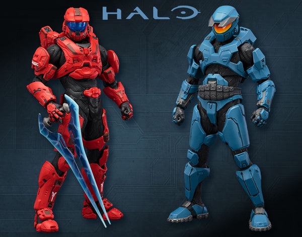 Halo Mjolnir Mark V and Mark IV DX Two Pack ARTFX + Statue
