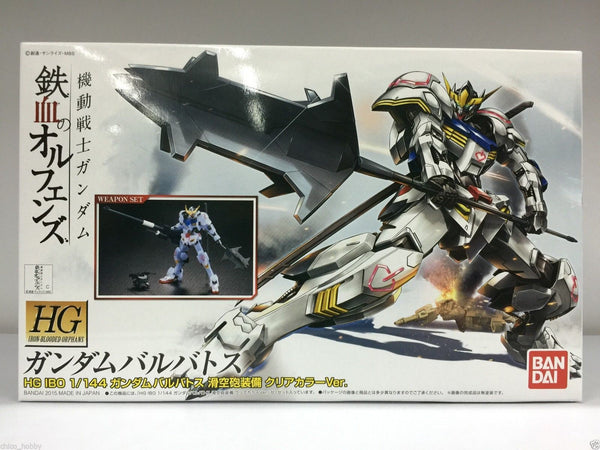HG IBO Barbatos Gloss Clear Ver with Weapon Set