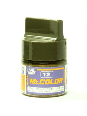 Mr. Color 12 - Olive Drab (1) (Semi-Gloss/Aircraft) C12