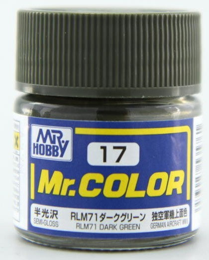Mr. Color 17 - RLM71 Dark Green (Semi-Gloss/Aircraft) C17