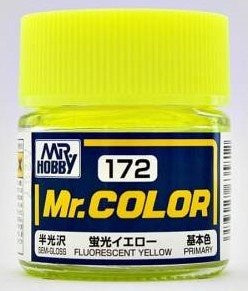 Mr. Color 172 - Fluorescent Yellow (Gloss/Primary) C172