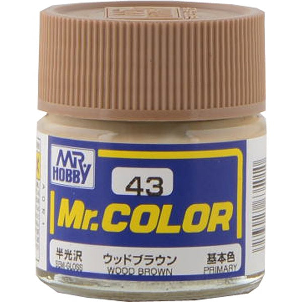 Mr. Color 43 - Wood Brown (Semi-Gloss/Primary) C43