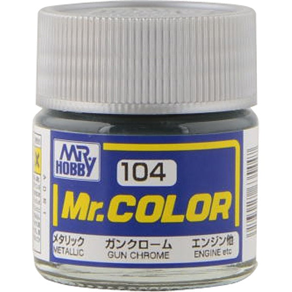 Mr. Color 104 - Gun Chrome (Metallic Gloss/Primary) C104