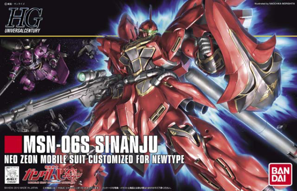 HGUC #116 MSN-06S Sinanju Neo Zeon Mobile Suit Customized For Newtype 1/144