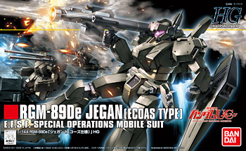 HGUC #123 RGM-89De Jegan (ECOAS TYPE) E.F.S.F. Special Operations Mobile Suit 1/144