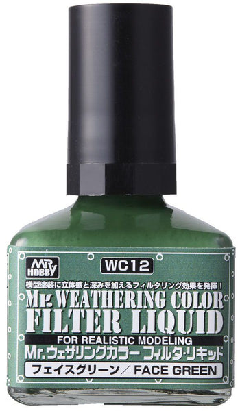 Mr. Weathering Color WC12 - Filter Liquid Green
