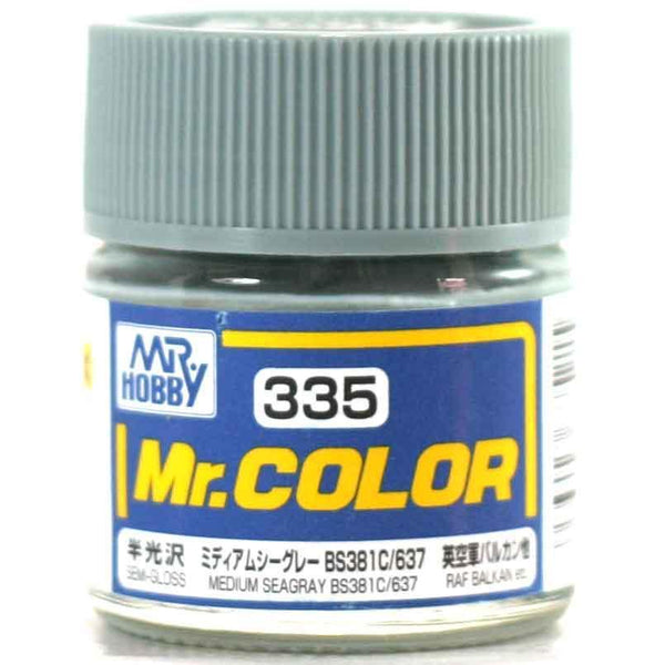 Mr. Color 335 - Medium Seagray BS381C 637 (Semi-Gloss/Aircraft) C335