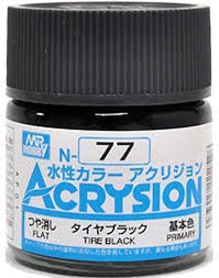 Acrysion N77 - Tire Black (Flat/Primary)