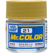 Mr. Color 21 - Middle Stone (Semi-Gloss/Aircraft) C21