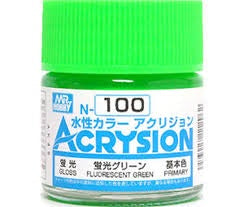 Acrysion N100 - Fluorescent Green (Semi-Gloss/Primary)