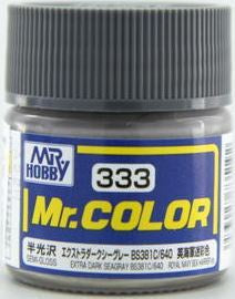 Mr. Color 333 - Extra Dark Seagray BS381C 640 (Semi-Gloss/Aircraft) C333
