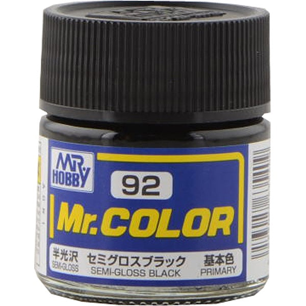 Mr. Color 92 - Semi Gloss Black (Semi-Gloss/Primary) C92