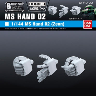 Builders Parts - HD 1/144 MS Hand 02 (ZEON)