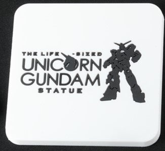 Gundam Unicorn Statue Coaster White
