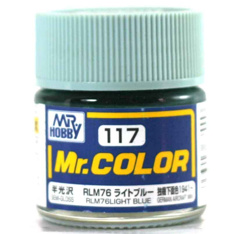 Mr. Color 117 - RLM76 Light Blue (Semi-Gloss/Aircraft) C117