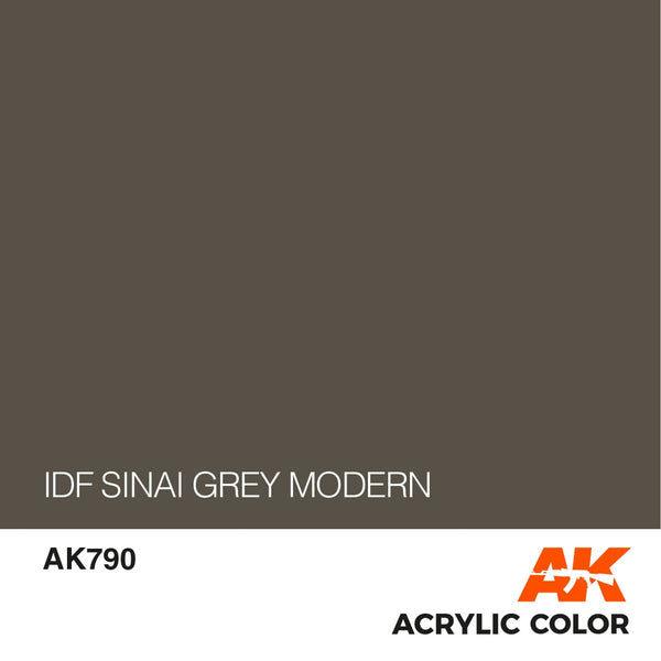 AK790 IDF Sinai Grey Modern 17ml