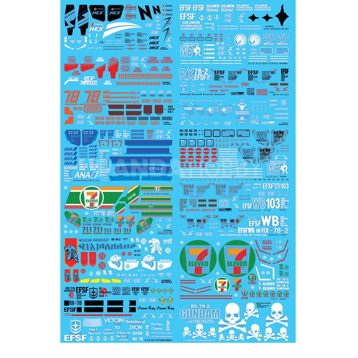 Delpi Decal MG RX-78-2 Limited 16 Kinds Water Decal 0