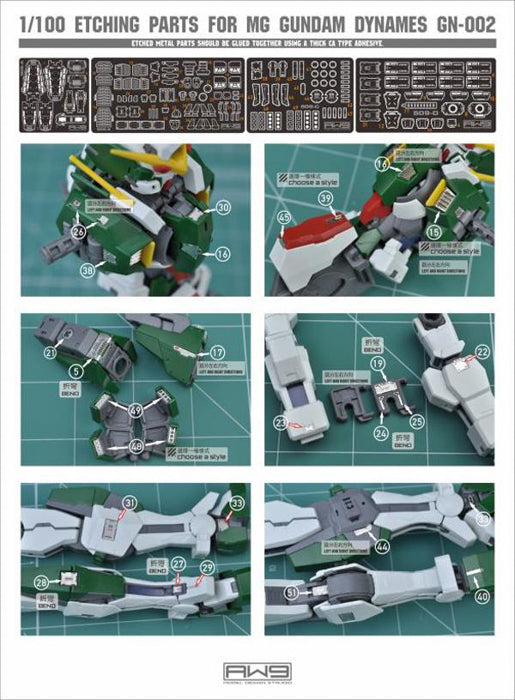 MAD - S09 MG Dynames Photo Etch Upgrade Parts