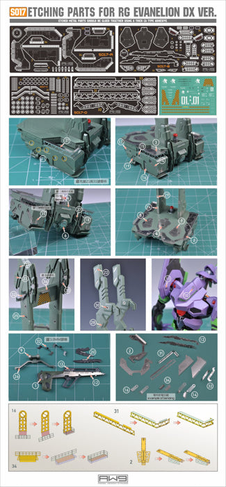MAD - S17 RG EVA DX Platform Photo Etch Upgrade Parts