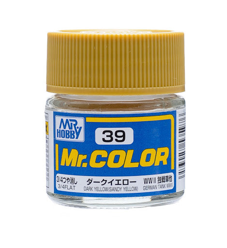 Mr. Color 39 - Dark Yellow (Sandy Yellow) (Flat/Tank) C39