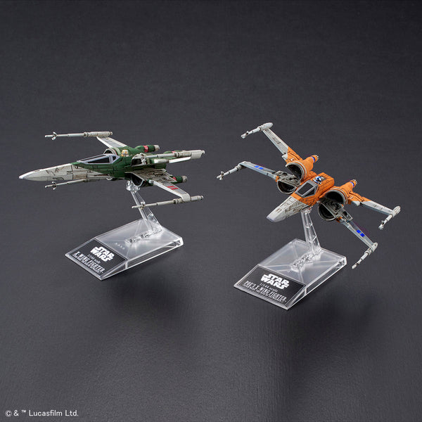 SW - Poe's X-Wing Fighter & X-Wing Fighter (Star Wars The Rise Of Skywalker) 1/144