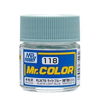 Mr Color 118 - RLM78 Light Blue (Semi-Gloss/Aircraft) C118