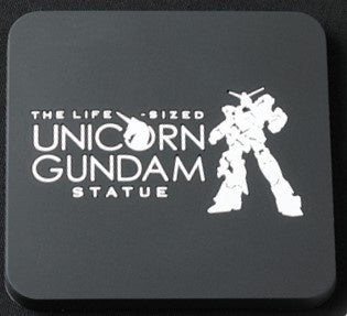 Gundam Unicorn Statue Coaster Black