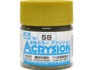 Acrysion N58 - Interior Green (Semi-Gloss/Aircraft)