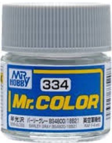 Mr. Color 334 - Barley Gray BS4800/18B21 (Semi-Gloss/Aircraft) C334
