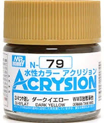 Acrysion N79 - Dark Yellow (3/4 Flat/Tank)