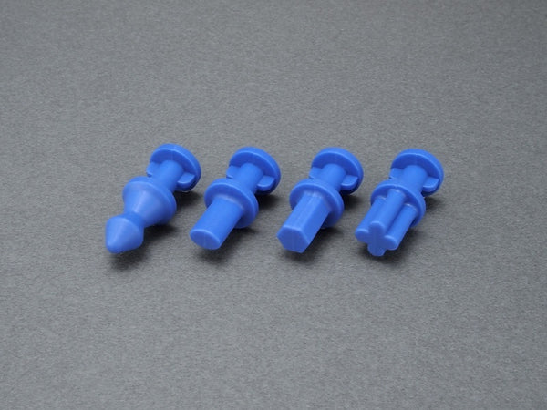 Hold & Guide Dowel Pin for Silicone Rubber Mold (L) Blue