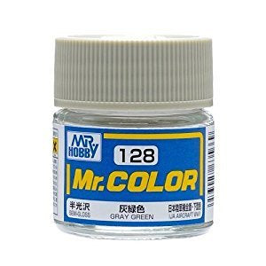 Mr. Color 128 - Gray Green (Semi-Gloss/Aircraft) C128