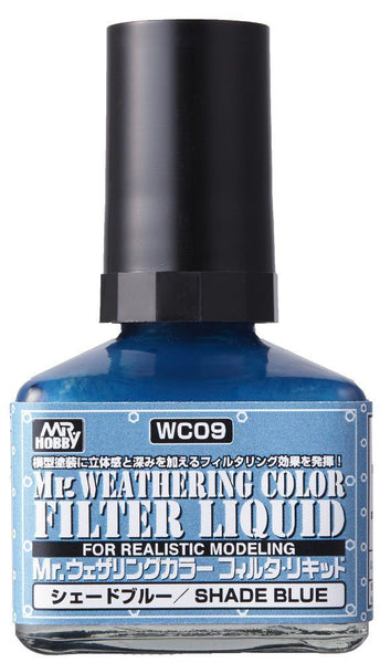 Mr. Weathering Color WC09 - Filter Liquid Blue