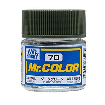 Mr. Color 70 - Dark Green (Flat/Tank) C70