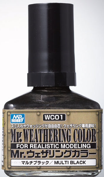 Mr. Weathering Color WC01 - Multi Black