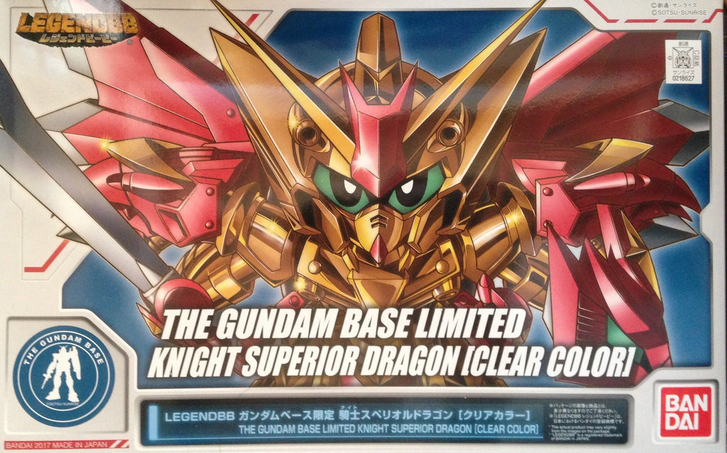BB The Gundam base Limited Knight Superior Dragon Clear Color