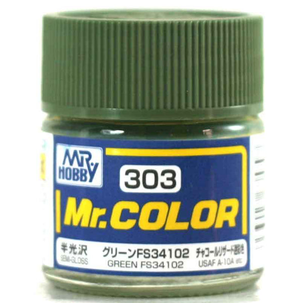 Mr. Color 303 - Green FS34102 (Semi-Gloss/Aircraft) C303