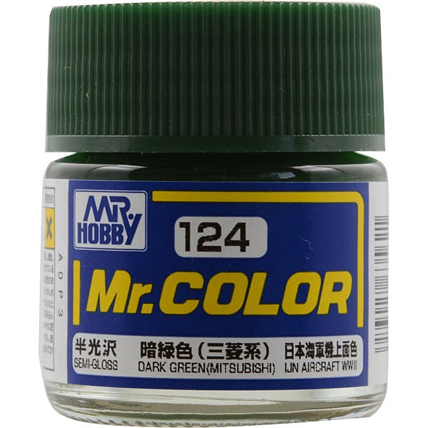 Mr. Color 124 - Dark Green (Mitsubishi) (Semi-Gloss/Aircraft) C124