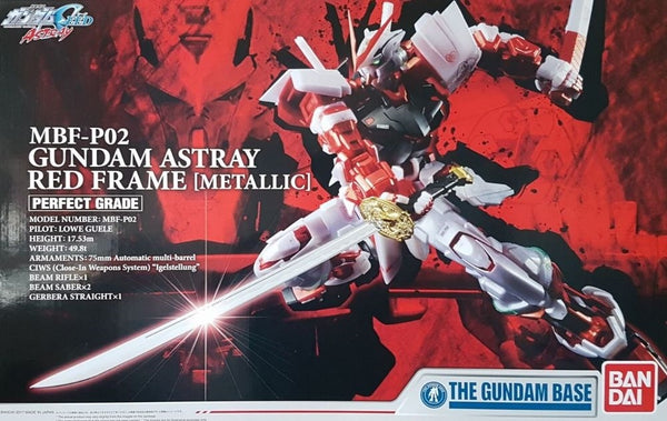 PG MBF-P02 Gundam Astray Red Frame Metallic Gundam Base Limited