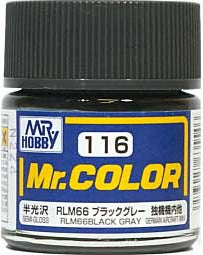 Mr. Color 116 - RLM66 Black Gray (Semi-Gloss/Aircraft) C116