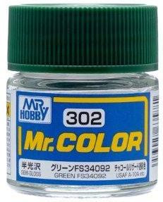 Mr. Color 302 Green FS34092 (Semi-Gloss/Aircraft) C302
