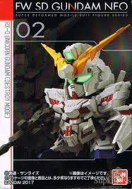FW SD Gundam Neo 02 Unicorn (Destroy Mode)