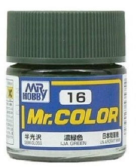 Mr. Color 16 - IJA Green (Semi-Gloss/Aircraft) C16