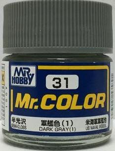 Mr. Color 31 - Dark Gray (1) (Semi-Gloss/Ship) C31
