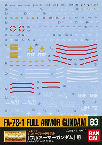 Gundam Decal 83 - FA-78-1 Full Armor Gundam
