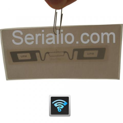 High quality EPC Gen 2 UHF RFID Labels with peel-and-stick adhesive back