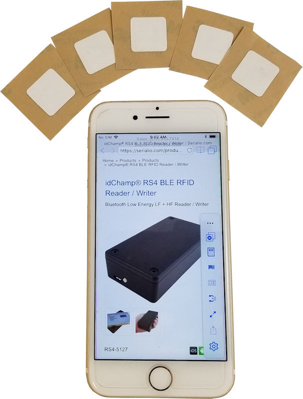 NFC Sticker Tag for iPhone & Android Built-In RFID - 18mm Square