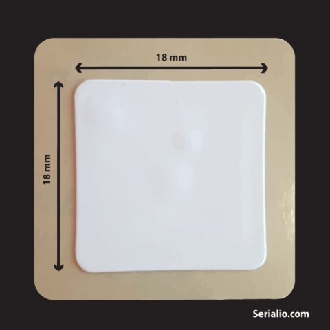 NFC Sticker Tag - ISO 15693 - 18mm Square - For Product Marking